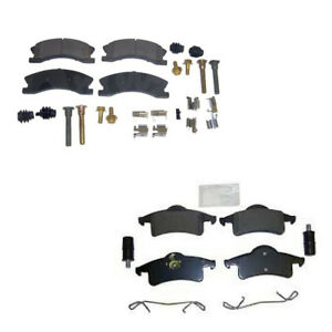Front /& Rear Pad Replacement Brake Kit Jeep Grand Cherokee WJ Silver Calipers