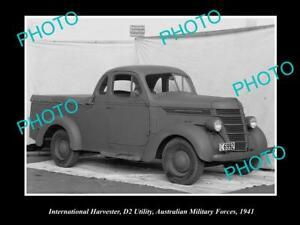 OLD-HISTORIC-PHOTO-OF-INTERNATIONAL-HARVESTER-D2-UTE-AUSTRALIAN-MILITARY-1941-a