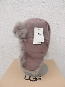 4cdb20718 Details about UGG STORMY GREY TOSCANA LONG PILE SHEEPSKIN AVIATOR/ TRAPPER  HAT, ONE SIZE ~NWT