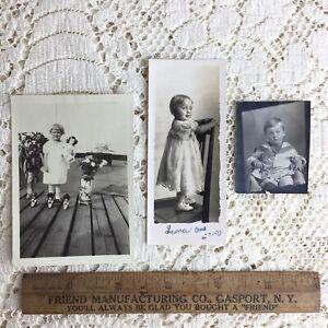 Antique Photos Little Girls Boy Sailor Suit Dolls Victorian Children Fashion 20s