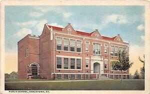 Kentucky-Ky-Postcard-1923-BARDSTOWN-Public-School-Building