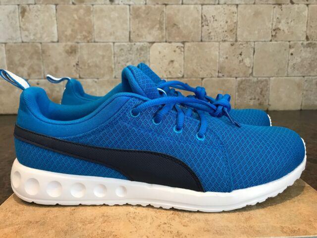 c93dc3fce77 PUMA Mens Carson Mesh Running Shoe Electric Blue Lemonade 10 M US