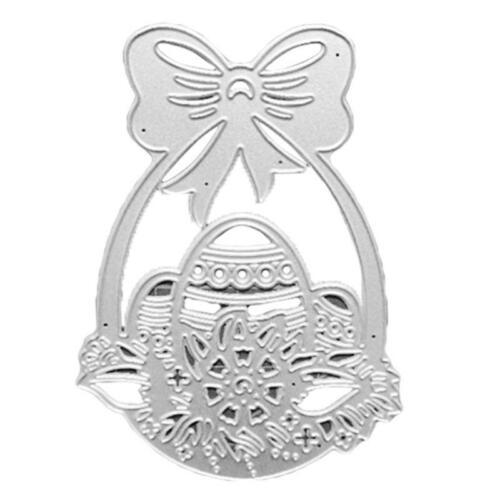 Easter Egg Spring Flower Basket Metal Scrapbooking Cutting Dies DIY Paper Crafts