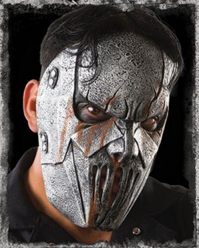 SLIPKNOT MICK THOMSON MASK Costume Gray Silver Latex Hope Heavy Metal LICENSED