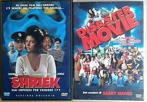 SERATA COMICA -  DISASTER MOVIE (2008) + SHRIEK (2000) 2 DVD EX NOLEGGIO EAGLE