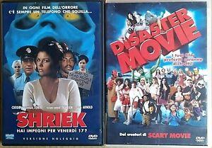 SERATA COMICA -  DISASTER MOVIE (2008) + SHRIEK (2000) 2 DVD EX NOLEGGIO EAGLE