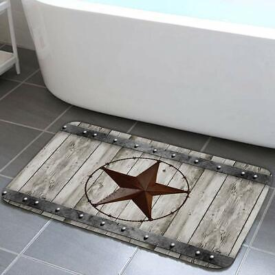 Rustic Barn Star Bathroom Rug Non Slip