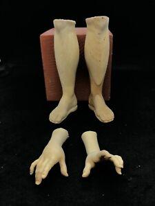 Un-Paio-Di-Piedi-mani-Legno-Figura-Donna-figure-presepe-pastori-38-40-Cm