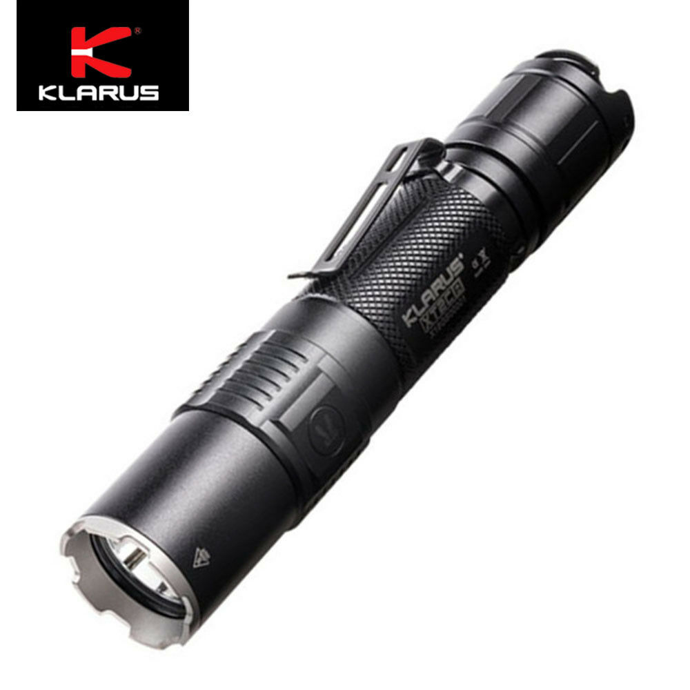 Klarus XT2CR 1600 lumens USB rechargeable  led flashlight W 3600mAh 18650 Battery  for your style of play at the cheapest prices