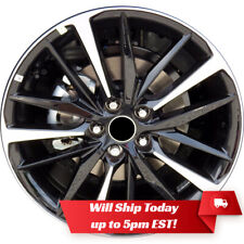 New 19 Machined Black Alloy Wheel Rim For 2018 2019 2020 Toyota Camry 75222 Xse Fits Camry