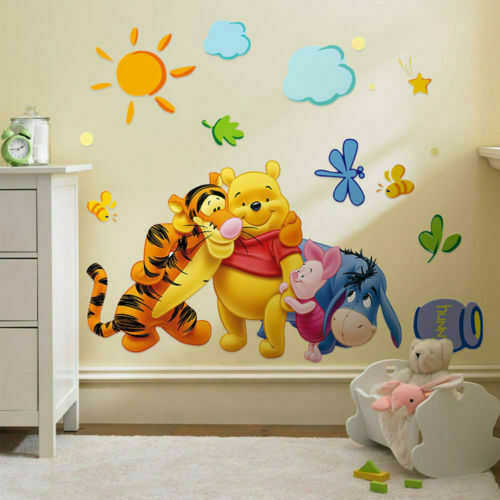 Winnie The Pooh Growth Height Chart Wall Sticker Decal Nursery Kid For Sale Online Ebay
