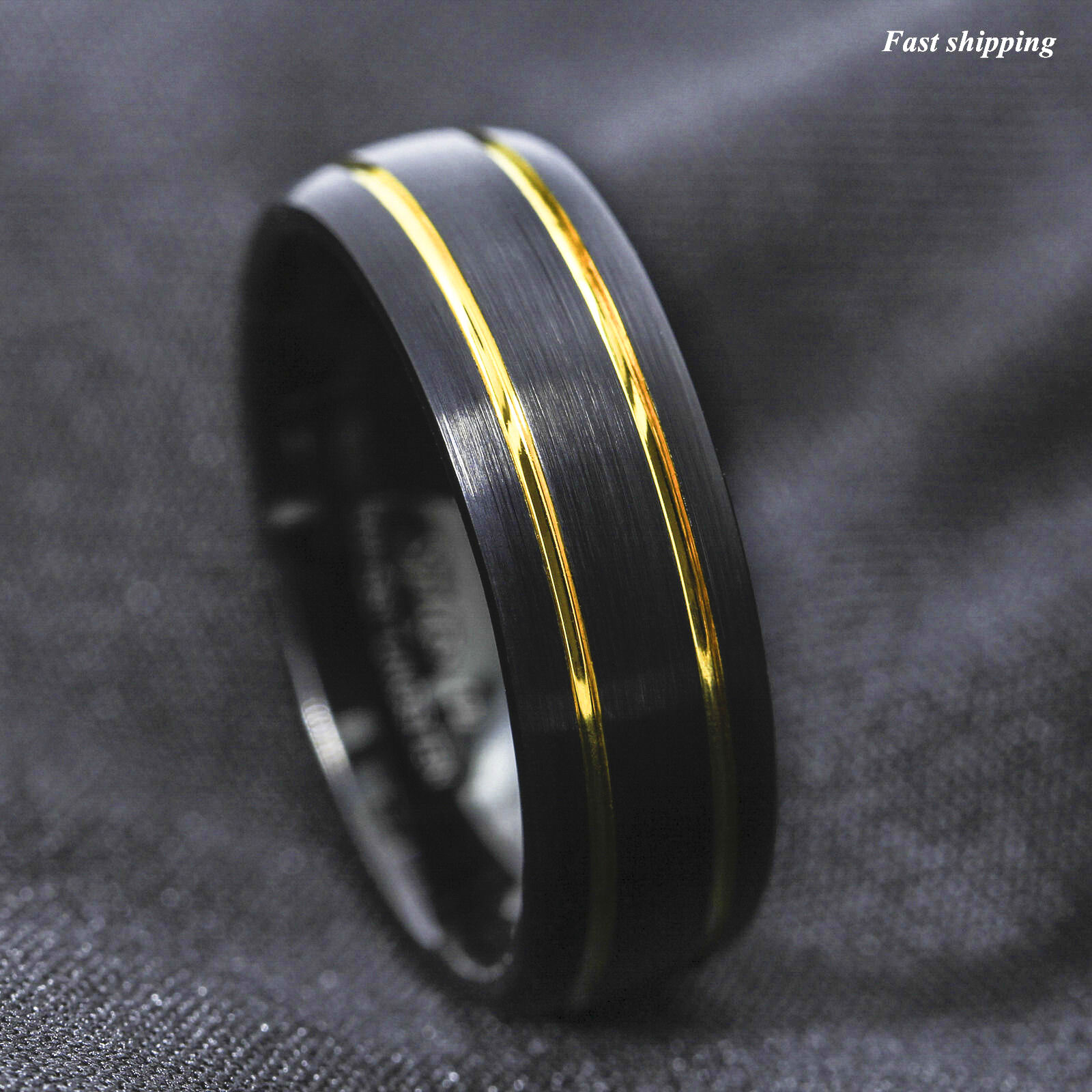 bands men wedding number webstore s gold black and h polished d ring band samuel satin white product