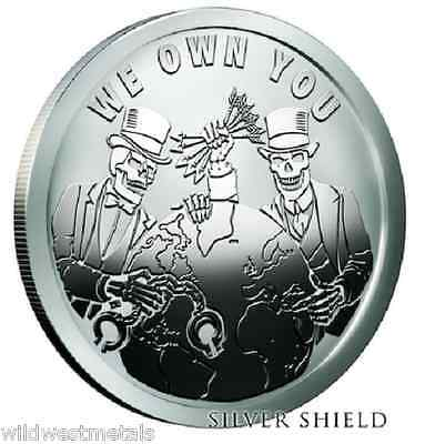 SILVER SHIELD #12 POP SERIES 2016 1OZ WE OWN YOU BU W// BOX /& COA