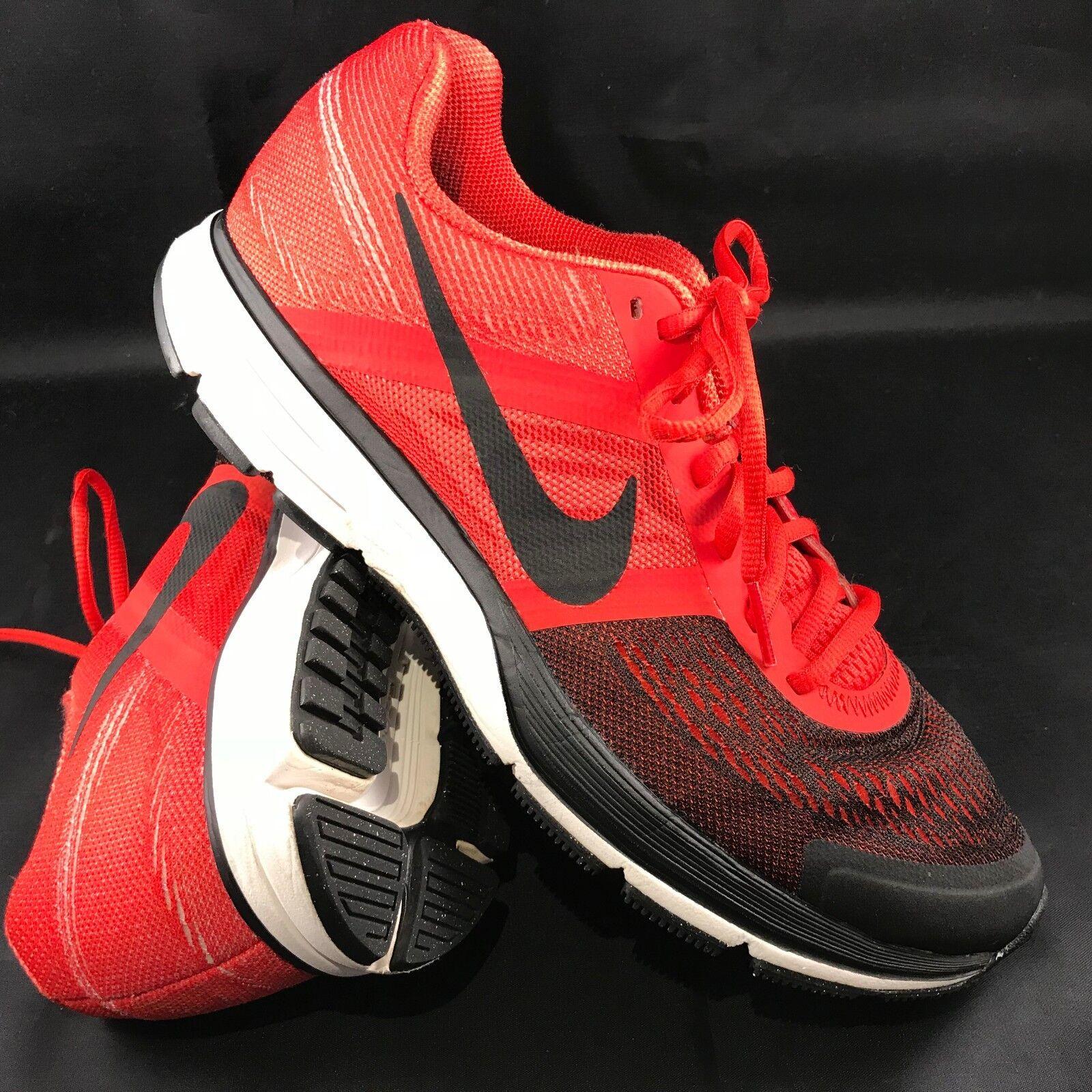Mens Nike Pegasus + 30 Red Black Mens 8 41 EUR, Fade Rare colorway