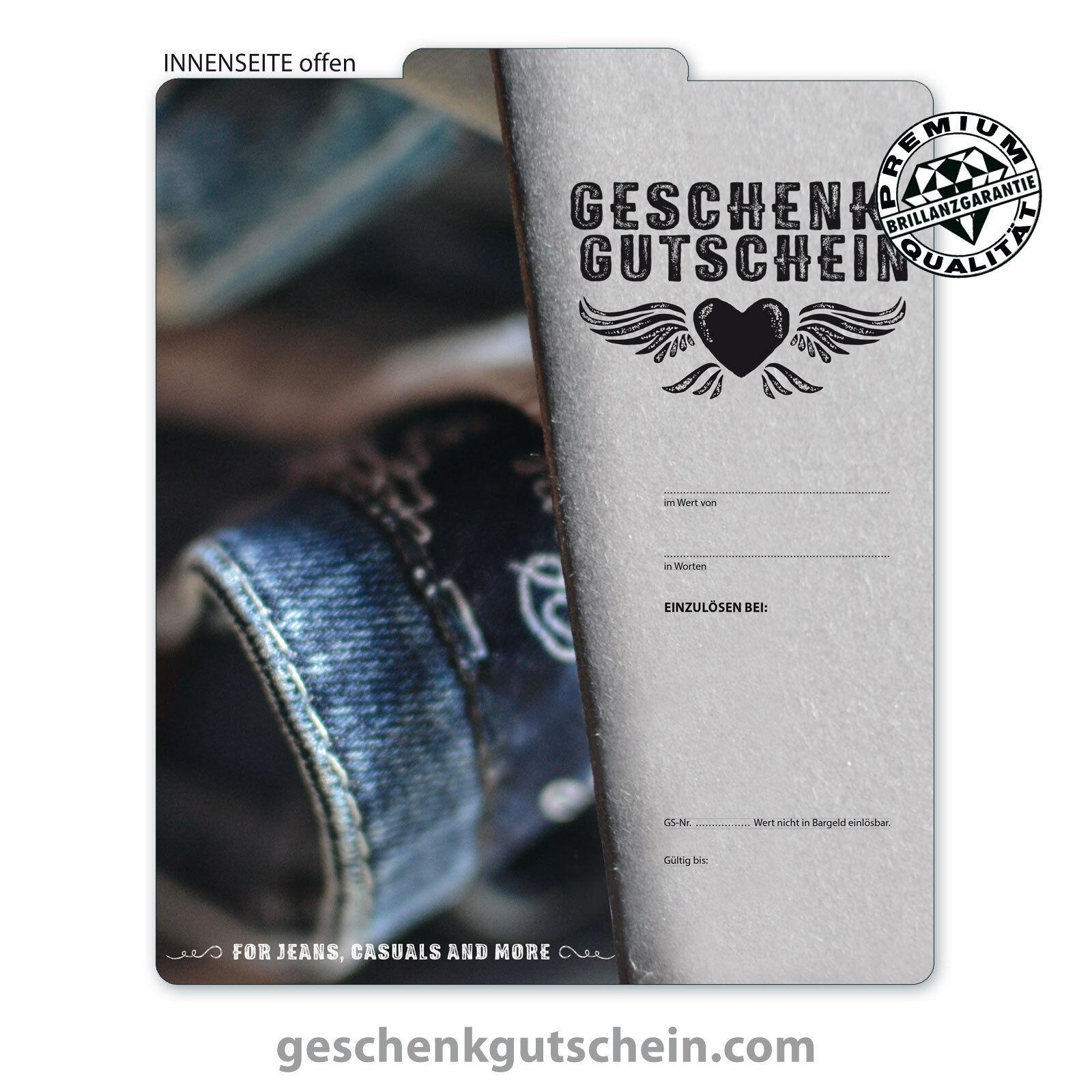 Premium Faltgutscheine  MultiFarbe  für Mode Bekleidung Fashion Jeansstore FA255 | Sale Deutschland  | Moderater Preis