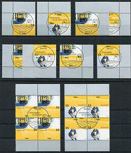 Bund-2733-2734-Eckrand-oder-Viererblock-gestempelt-Vollstempel-Berlin-ESST