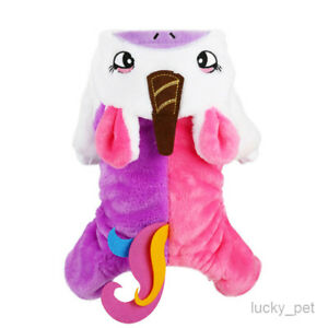 Unicorn Dog Costume For Small Pet Puppy Warm Cat Apparel Winter