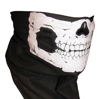 Cool Skull Bandana Bike Helmet Neck Face Mask Paintball Ski Sport Headband CN007