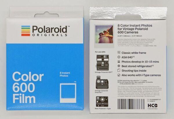 éNergique Polaroid 600 Lot De 2 Films Couleur Cadre Blanc DéLicieux Dans Le GoûT