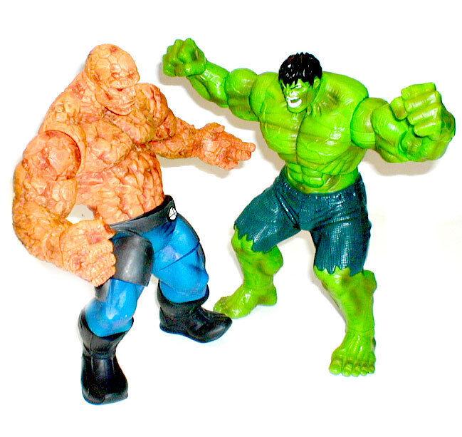 Marvel Legends Comics HULK vs THE THING detailed 10  figure set lot ,  Avengers