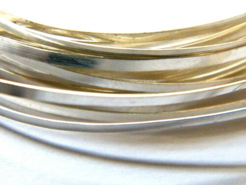 Sterling Silver Rectangular Wire 4.0mm x 0.84mm x 200mm Fully Annealed Sheet.925