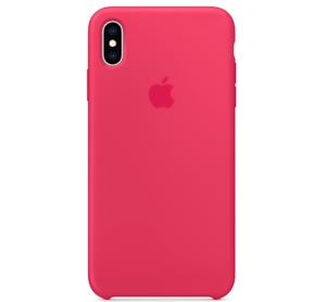 Echt-Original-Apple-iPhone-XS-Silikon-Huelle-Silicone-Case-Hibiskus