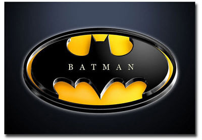 BATMAN LOGO REFRIGERATOR MAGNET TOOL BOX LOCKER CHRISTMAS GAG GIFT MAN CAVE