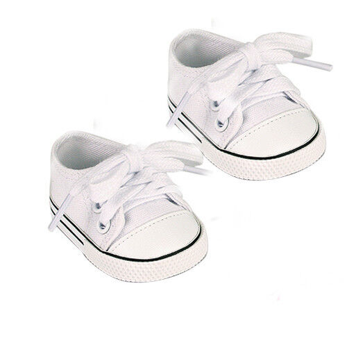 White Sneakers Fits 18 inch American Girl Doll Logan