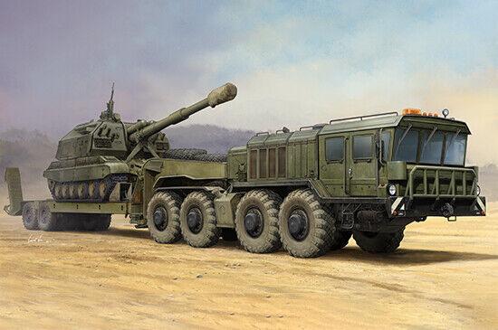 Rysk Kzkt-7428 Transportör med Kzkt-9101 Halvsläpvagn 1 35 Modell Kit