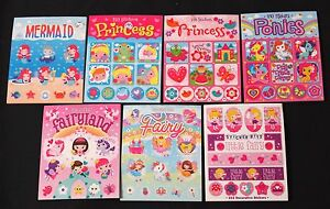 princess fairy mermaid pony sticker booklets - cute art craft kids fun