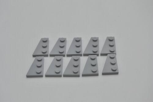 LEGO 10 x Flügelplatte links neuhell grau Light Bluish Gray 3x2 Left 43723