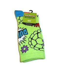 Raphael Leonardo Donatello Ninja Turtles Socks Set  TMNT 4 Pair Anklets Socks