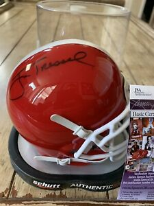 Jim-Tressel-Autographed-Signed-Mini-Helmet-JSA-COA-Youngstown-State-Penguins-B
