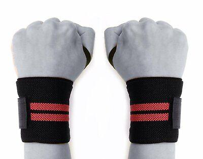 3x Sports Weight Lifting Wrist Wraps Bandage Hand Support Brace Gym Straps Weich Und Rutschhemmend