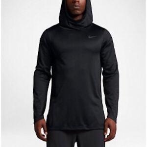 c63e645b694b Nike Air Elite Dri-Fit Triple Black L S Hoodie Men s Size S-3XL ...