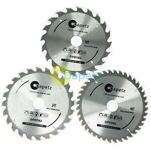 Hojas-De-Sierra-Circular-TCT-3Pc-184-mm-20-24-y-40-Dientes-Con-Adaptador-Anillos-o-185-mm
