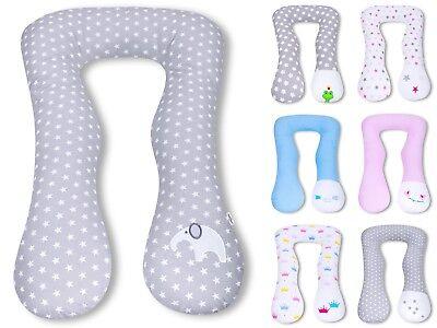 Amilian/® XXL BEZUG f/ür Stillkissen Baby Lagerungskissen Lang Seitenschl/äferkissen 170 cm Krone Wei/ß