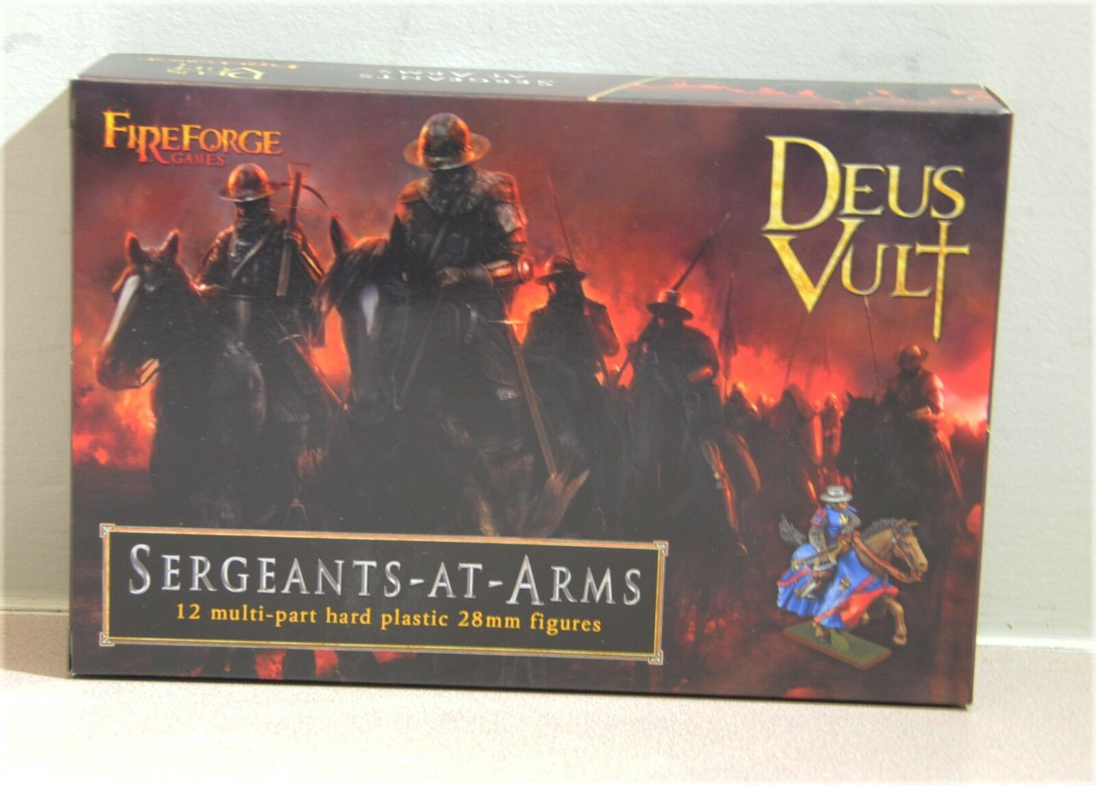 FIRE FORCES GAMES MOUNTED SERGEANTS 12 MULTIPARTY HARD PLASTIC 28 MM NO BOX