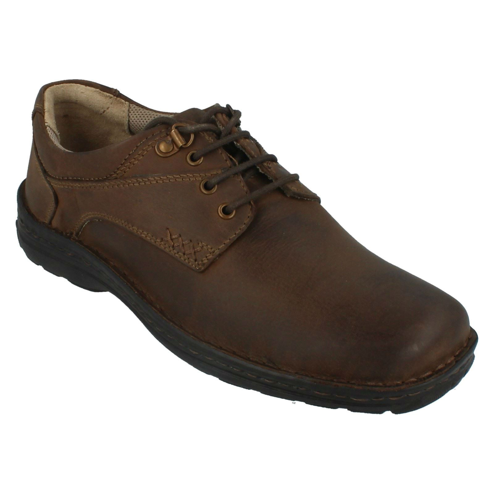H104687 HUSH PUPPIES GEOGRAPHY LACE UP  LEATHER Herren BROWN LEATHER  CASUAL SMART Schuhe 183aa5