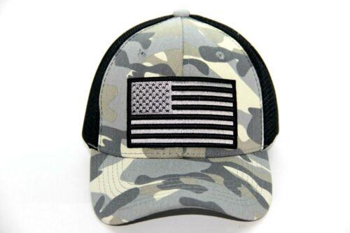 USA FLAG CAMOUFLAGE MESH BACK TRUCKER HAT BASEBALL CAP ADJUSTABLE