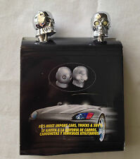Skull Chrome Universal Windshield Washer Jet Spray Nozzle White LED Fits Mazda