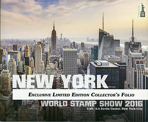 NY2016 New York World Stamp 2016 Excl Limited Ed Collectors Folio Skyline by Day