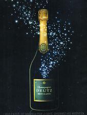 PUBLICITE ADVERTISING  2013   DEUTZ  champagne