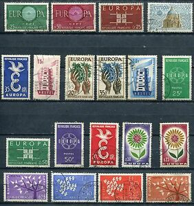 LOT-TIMBRE-FRANCE-EUROPA-OBL