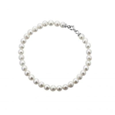 Bracciale Donna FuJiKo Perle Naturali Coltivate Argento MADE IN ITALY BR0101-G