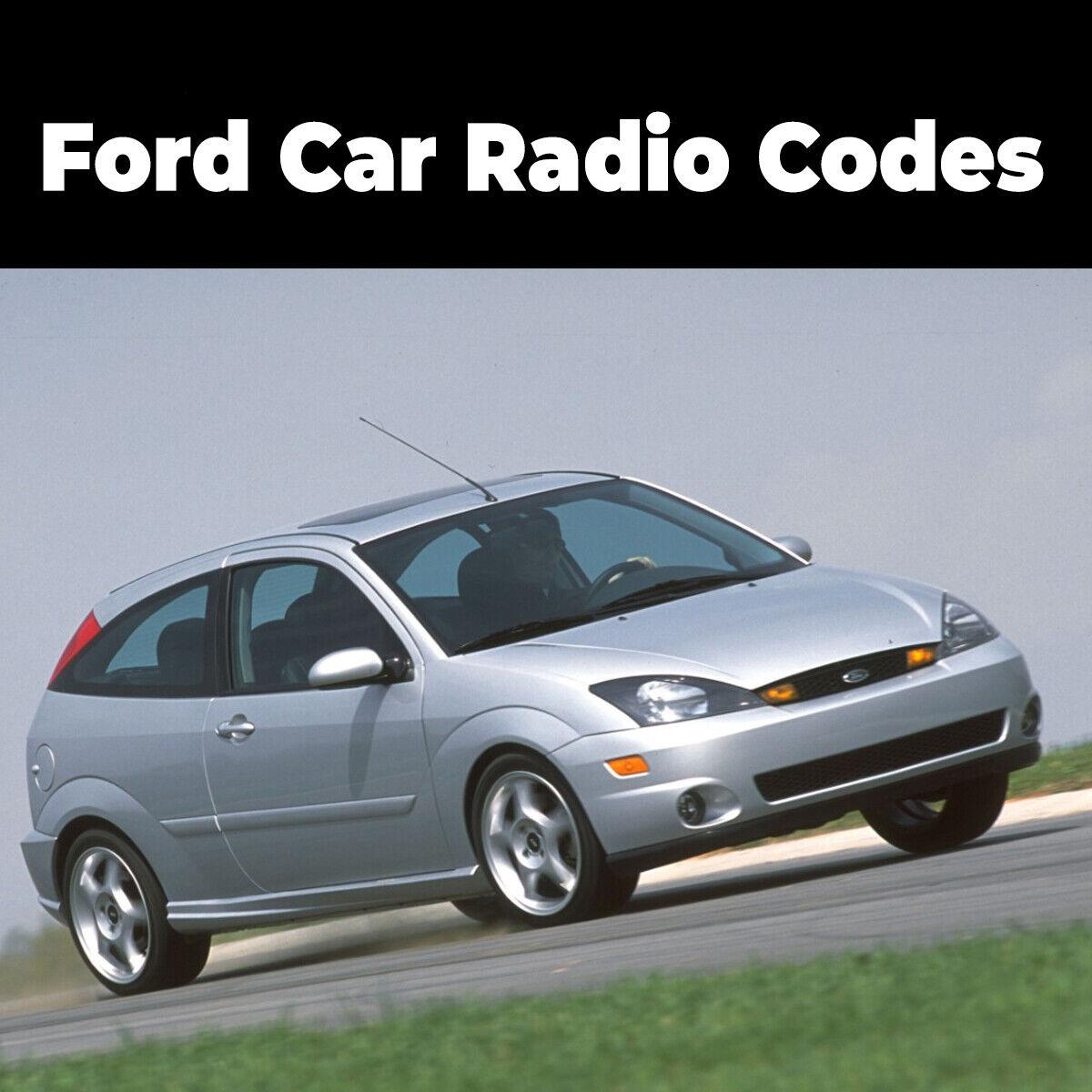 ford car radio codes