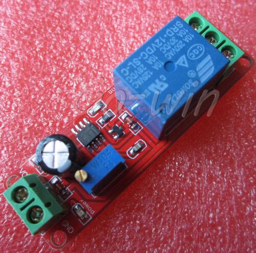 2PCS DC 12V Delay relay shield NE555 Timer Switch Adjustable Module 0~10S