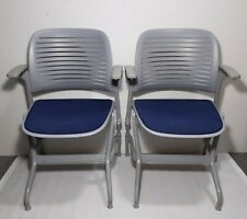 Pair Of Steelcase Cachet Foldingflip Up Arms Office Guest Chairs
