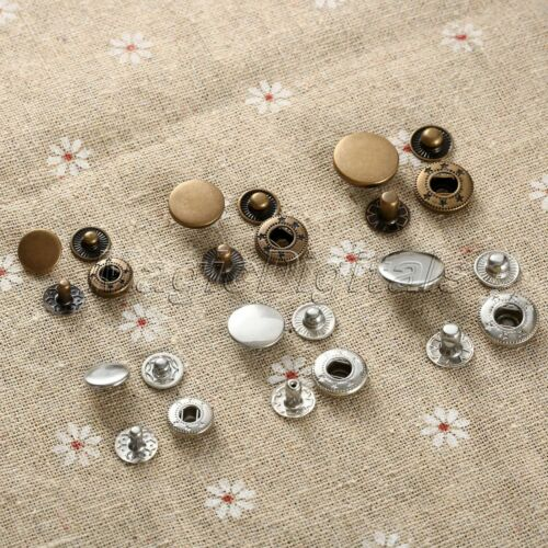 Metal Snap Fasteners Poppers Presse Goujons Sewing Leather Craft Bouton fashion