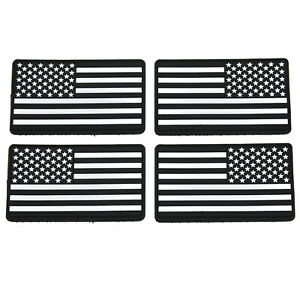 4-Pack-Tactical-US-Flag-USA-Glow-in-the-Dark-PVC-Patch-Hook-and-Loop
